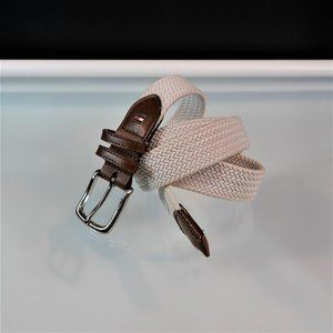 Tommy Hilfiger Belt Braided Canvas Bonded Leather